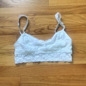 Gilly Hicks white lace bralette